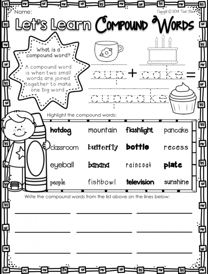 Teach Your Students All About Compound Words With This No Prep