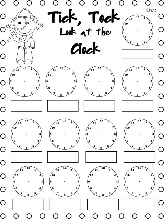 Telling Time Worksheets  Printable Kids Worksheets