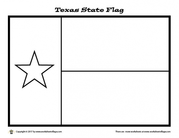 Texas State Flag Coloring Page  Worksheet Village