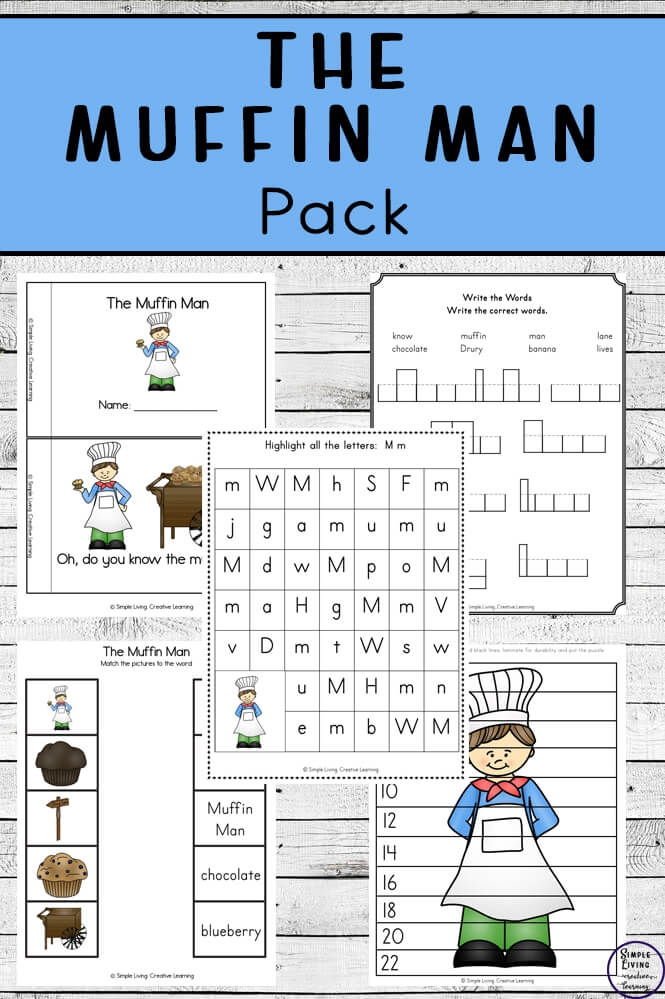 The Muffin Man Printable Pack