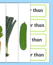 Vegetable Size Comparison Measuring Activity Teacher Made