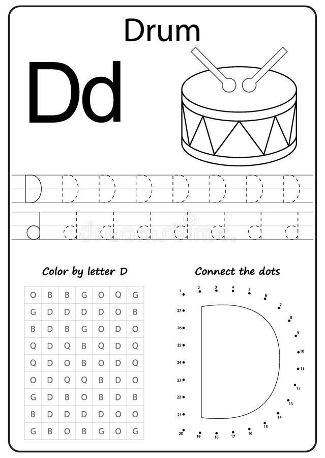 Writing Letter D Worksheet Writing A