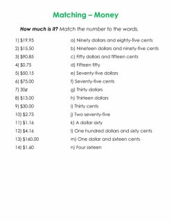 Writing Money Amounts #12