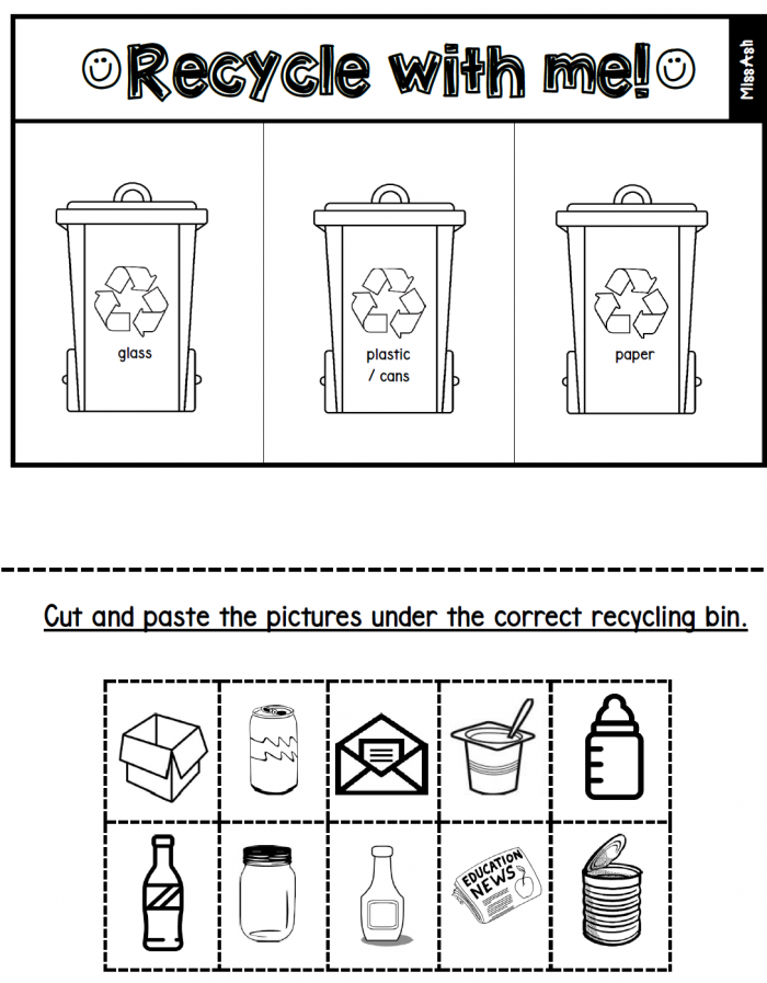 Recycle Worksheets