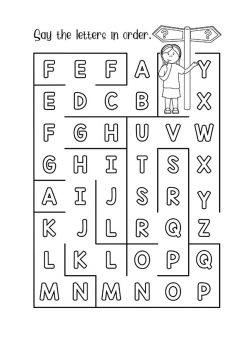 Letter Maze: A