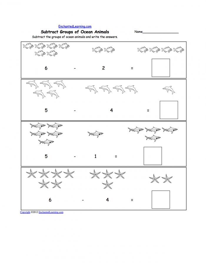 Animal Worksheet New Ocean Animal Worksheets Preschool