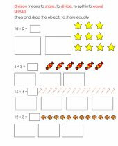 Associate Division With Equal Sharing Worksheet
