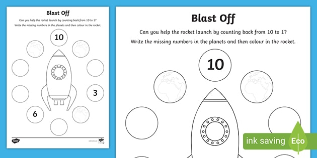 Backward Counting To Worksheet Cfe Early Level