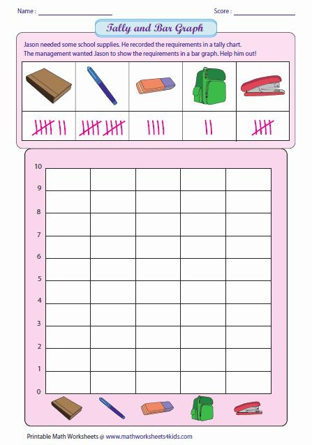 Bar Graph Kindergarten Worksheet