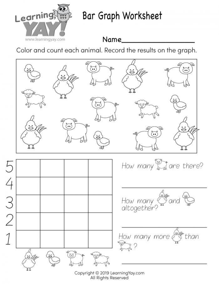 Bar Graph Worksheet For St Grade Free Printable
