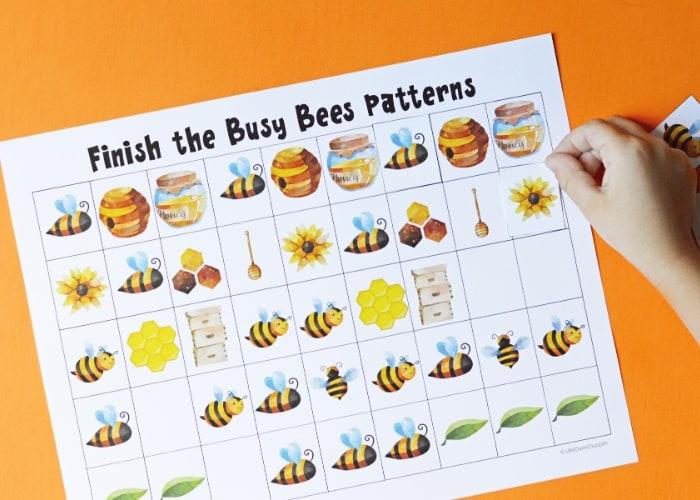 Bee Math Activities For Kids