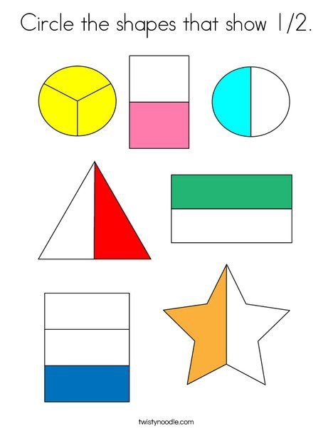 Circle The Shapes That Show Coloring Page