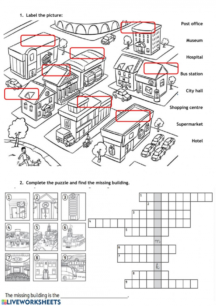 City Places Interactive Worksheet