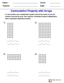 Practicing Commutative Property With Arrays