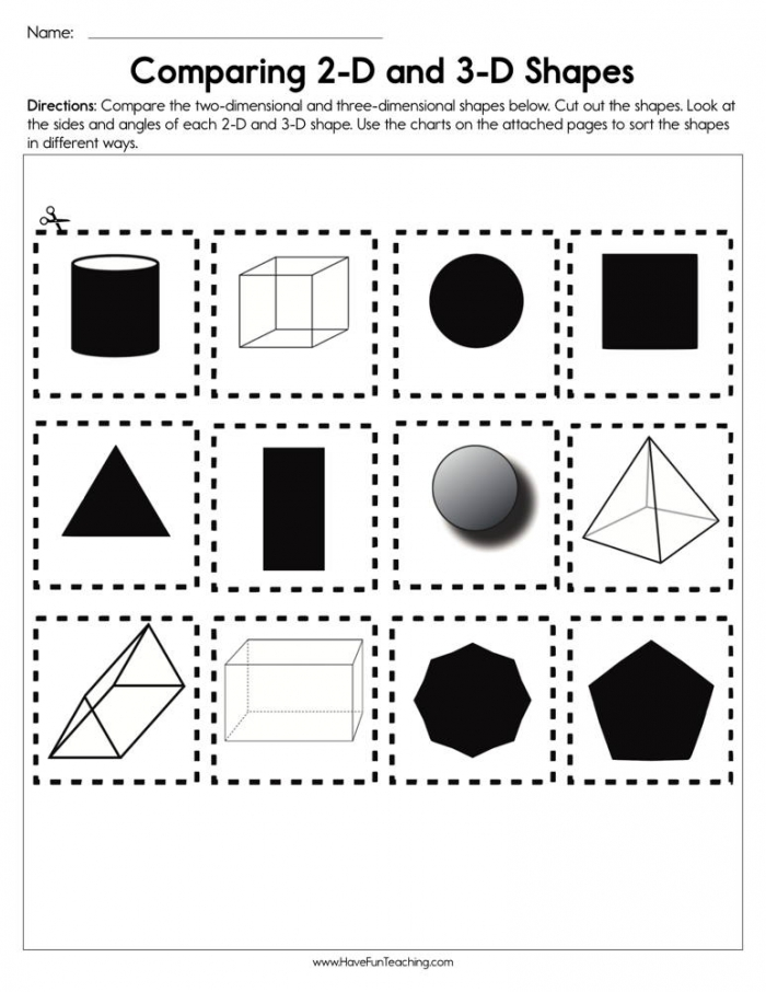 Comparing D And D Shapes Worksheet Have Fun Teaching