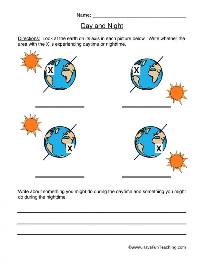 Day And Night Worksheet Have Fun Teaching