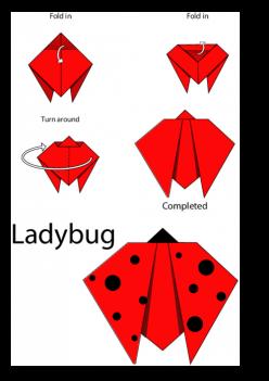 How To Do Origami: Ladybug
