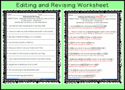 Editing And Revision Practice