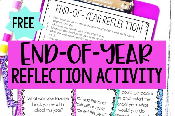End Of Year Reflection Activity Free