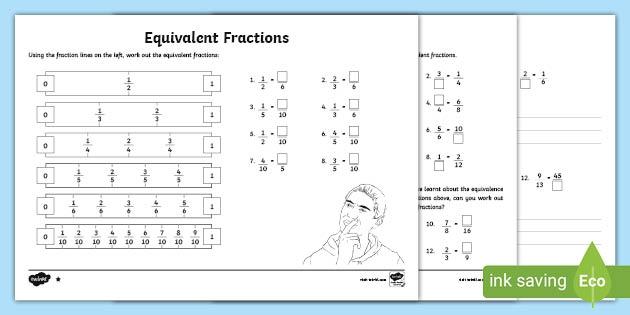 Equivalent Fractions Worksheet