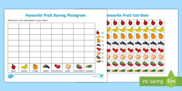 Favorite Fruit Pictogram