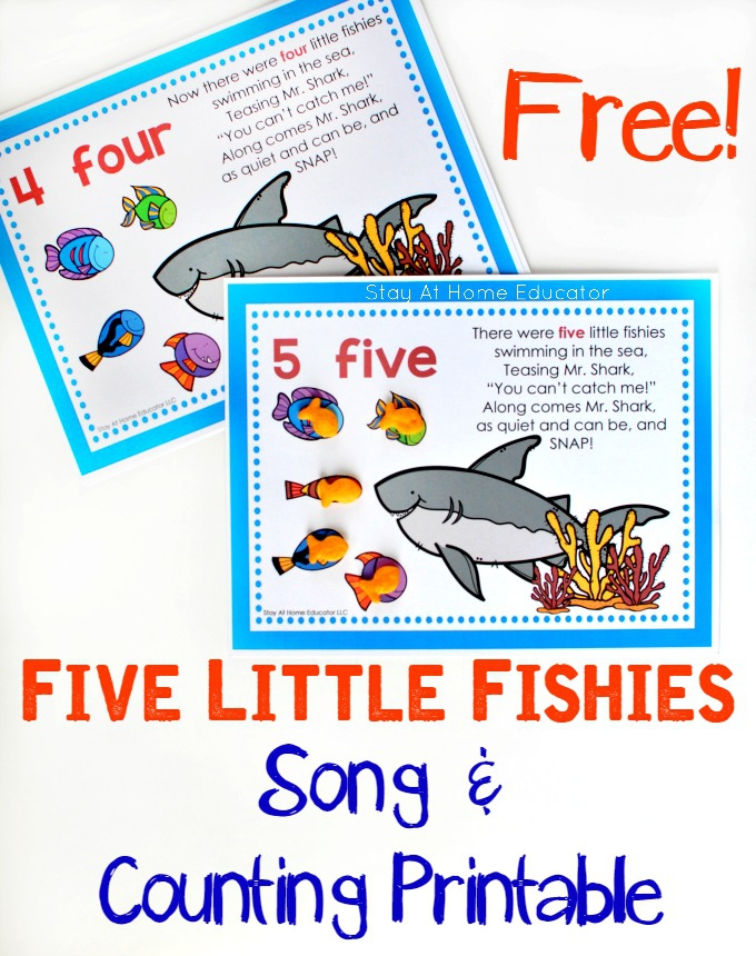 Five Little Fishies Song And Free Counting Printable