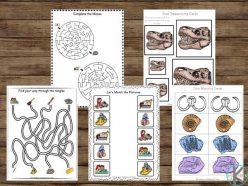 Fossil Worksheet For Kids: Dig It! #1