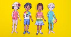 Summer Paper Doll Girl