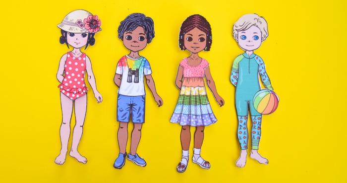 Free Printable Summer Paper Dolls