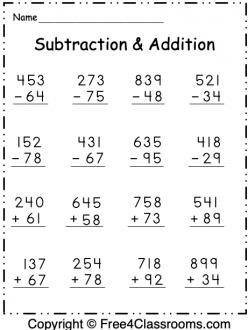 Extra Practice: Three-Digit Subtraction