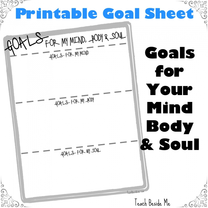 Goals Setting For My Mind Body Soul