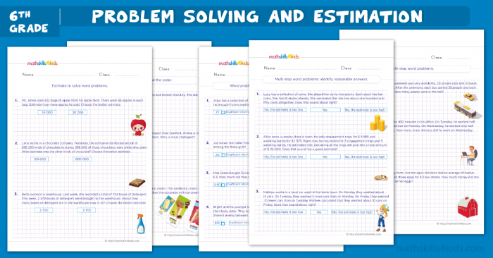 Grade Math Word Problem Worksheets With Answers