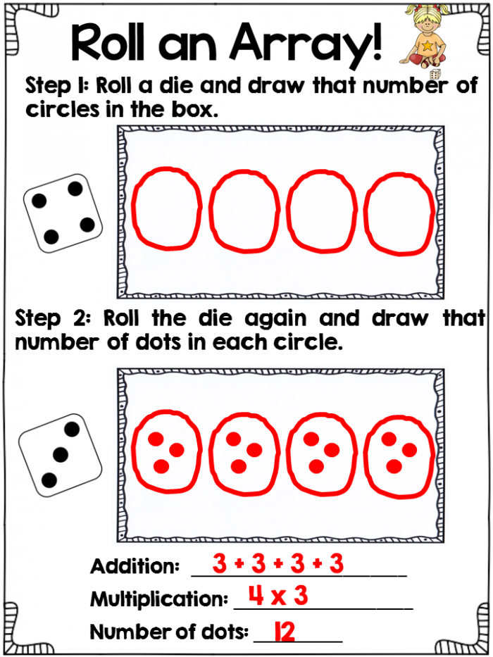Hooray For Arrays Multiplication Word Problems Part Two