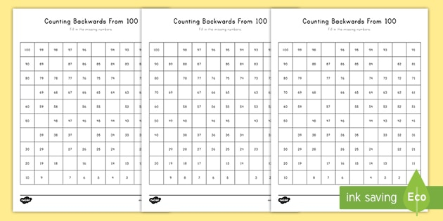 How To Teach Counting Backwards From Counting Activity