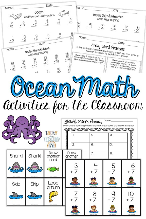 Interesting Ocean Math Activities For The Early Elementary