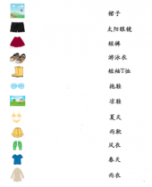 Learn Seasonal Clothes In Chinese With Seasonal Clothes Theme Pack