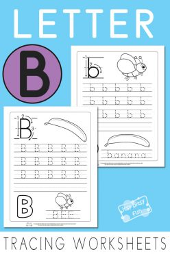 Trace And Write The Letter B
