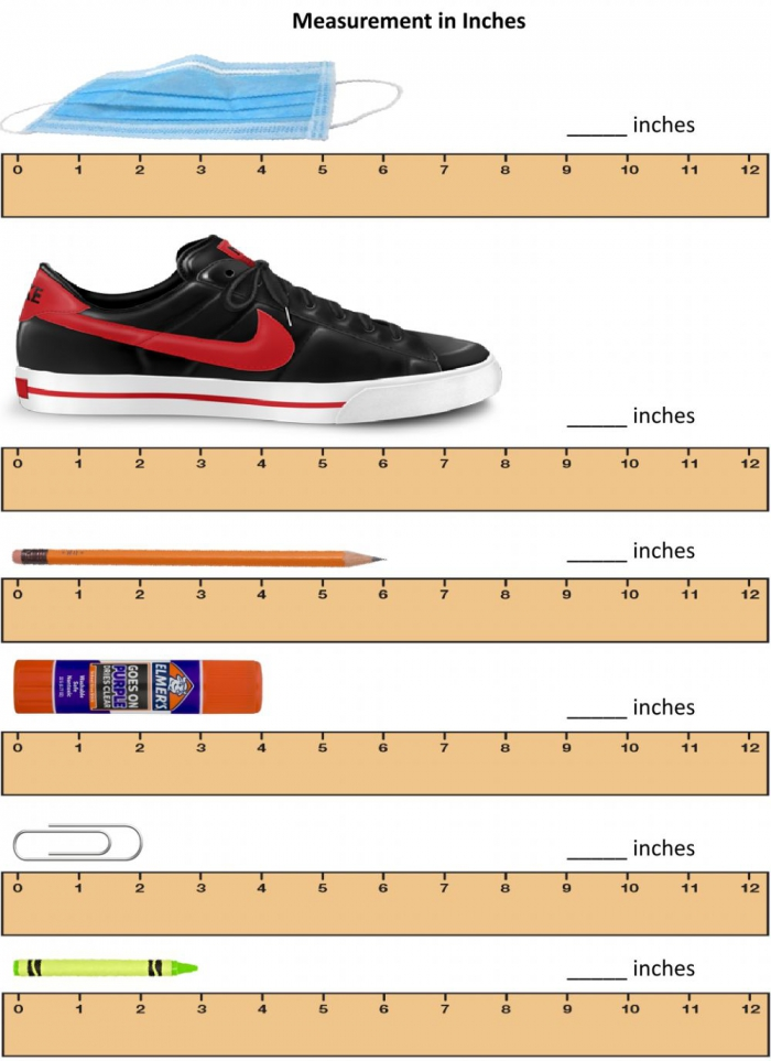 Measurement In Inches Worksheet