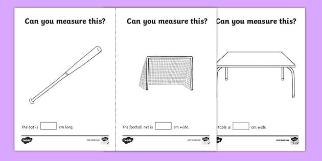Measuring In Cm Worksheet Worksheets Teacher Made