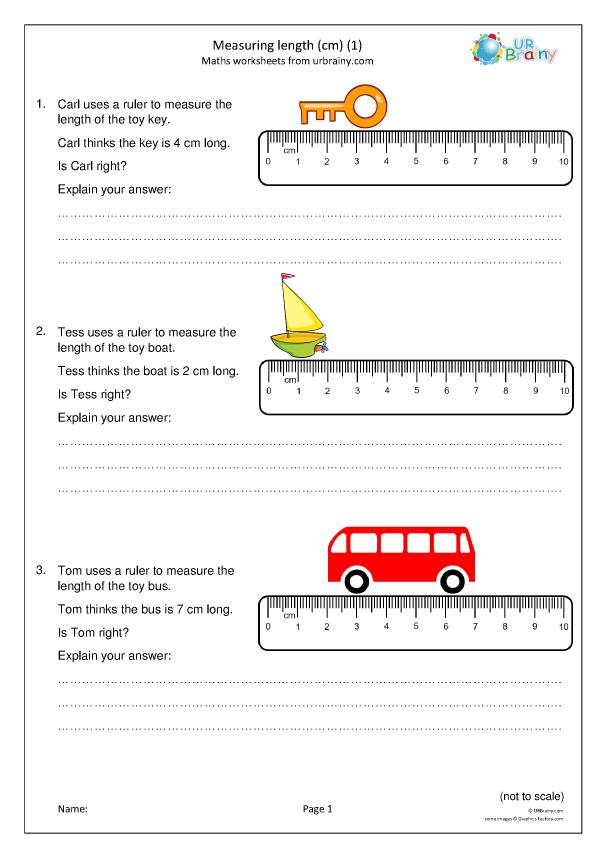 Measuring Length Using Cm