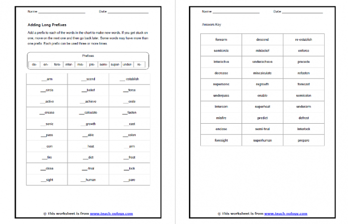 Of The Best Prefix And Suffix Worksheets And Resources For Ks