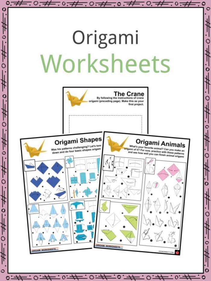 Origami Facts Worksheets Origins Modern Origami For Kids