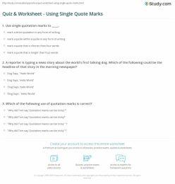 Quotation Marks Quiz #2