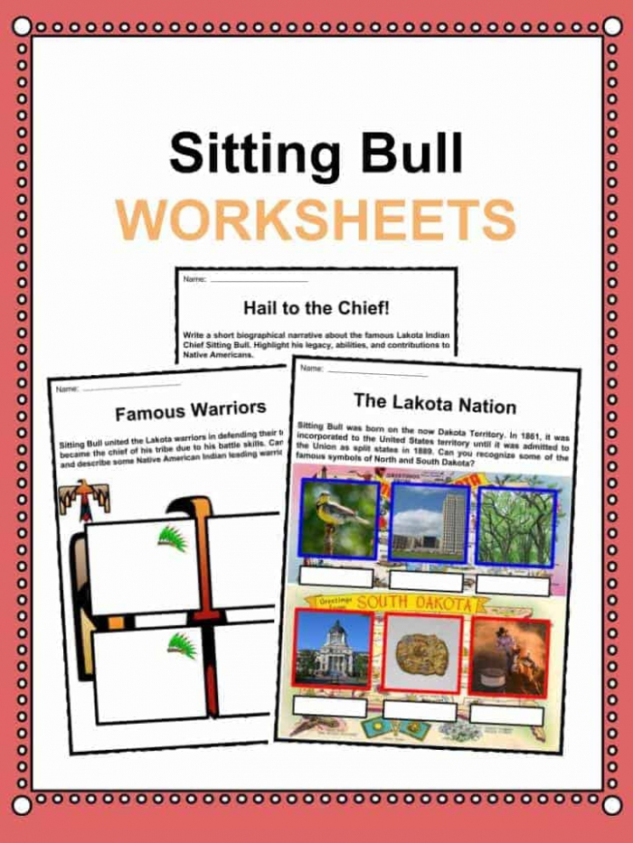Sitting Bull The Indian Chief Facts Worksheets For Kids