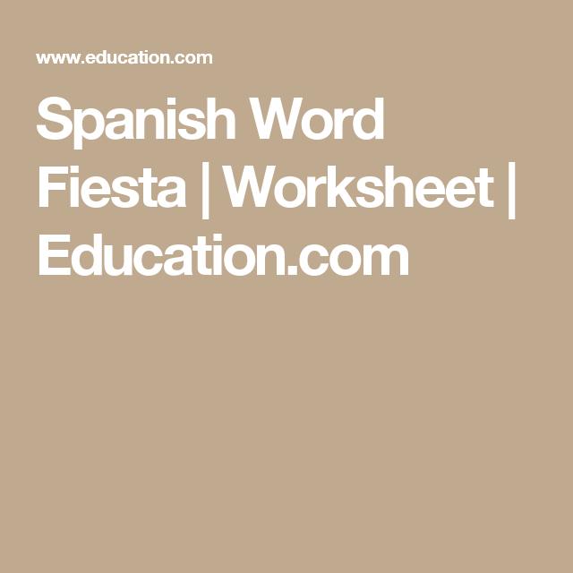 Spanish Word Fiesta