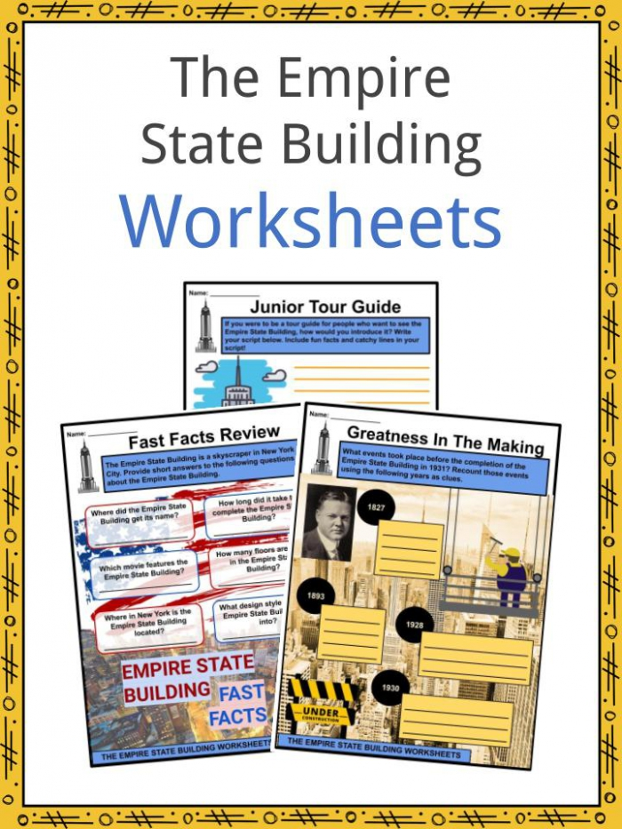The Empire State Building Facts Worksheets For Kids
