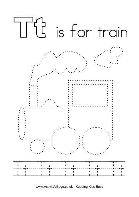 Tracing Alphabet T