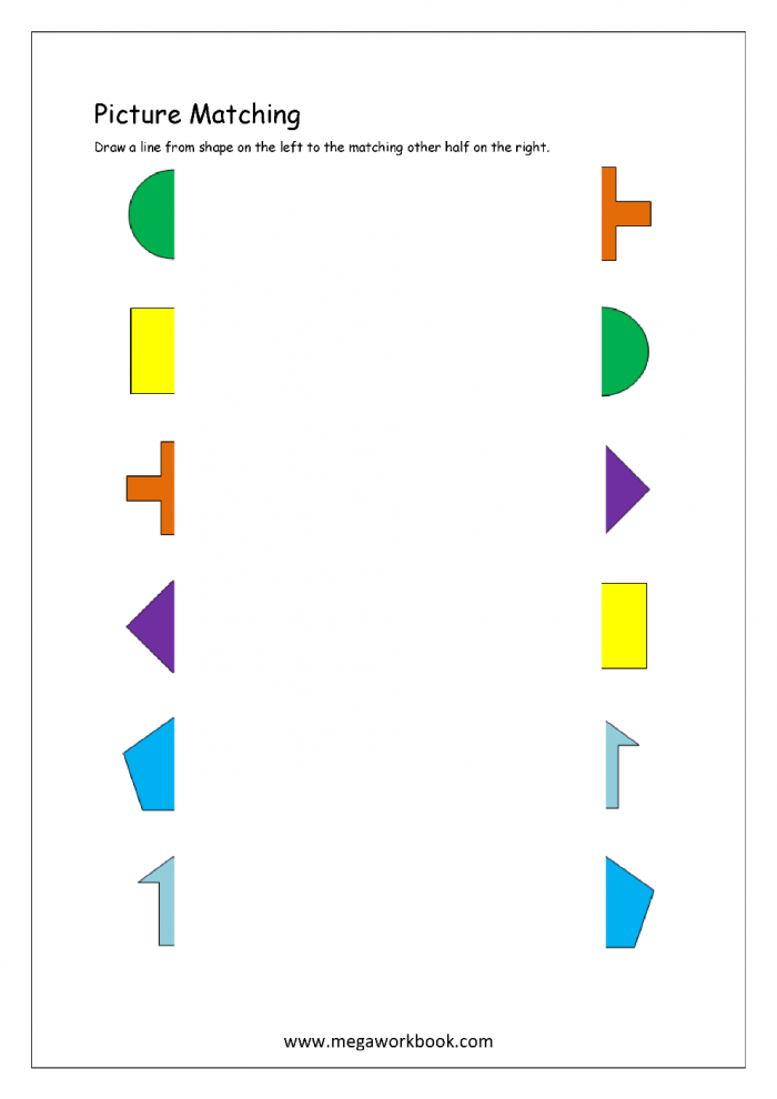 Tracing Diagonal Lines Match The Objects Worksheets