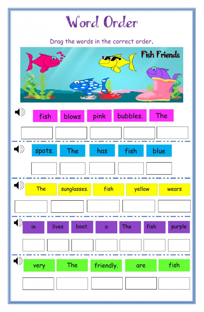 Unscramble The Sentence Dj Worksheet