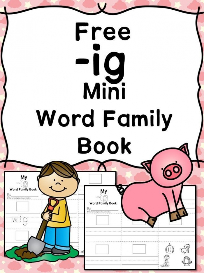 Welcome To Word Families Ig Words Worksheets